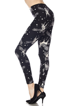 Brushed Magical Pegasus Plus Size Leggings - 3X-5X