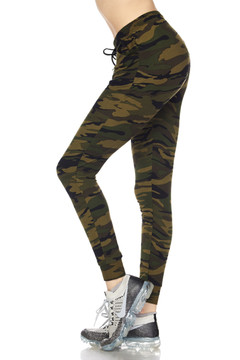 6ee5217dc5 Brushed Olive Green Camouflage Joggers. Quick view