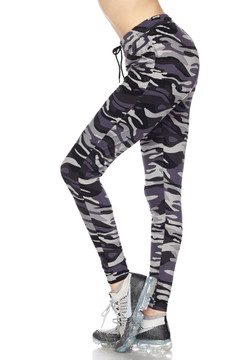 Brushed Gray Camouflage Joggers