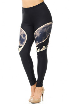 Creamy Soft Howl at the Moon Wolf Plus Size Leggings