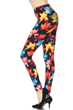 Brushed Autumn Leaves Leggings