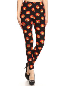 Brushed Basketball Plus Size Leggings - 3X-5X