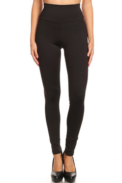 High Waisted Premium Basic Solid Leggings