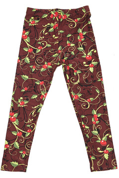 Christmas Holly Kids Leggings
