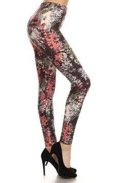 Brushed Twilight Tie Dye Plus Size Leggings - 3X-5X