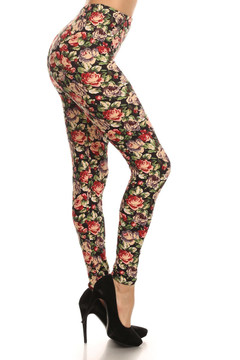 Brushed Vintage Floral Leggings
