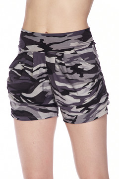 Brushed Monochrome Camouflage Shorts