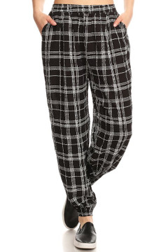 Essential Ebony Plaid Harem Leggings