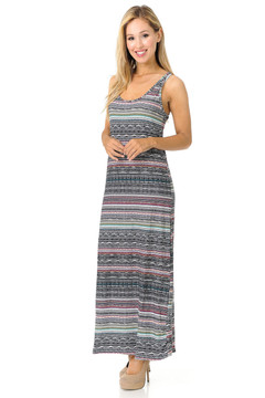 Brushed Tribal Maxi Dress - EEVEE