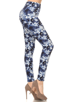 Brushed Summer Blue Tie Dye Leggings