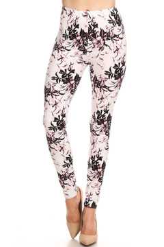 Brushed Pastel Blossom Bloom Leggings