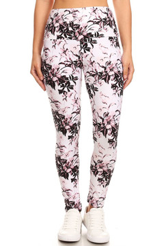 Brushed Pastel Blossom Bloom High Waist Leggings
