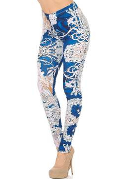 Left Side Image of Double Soft Brushed Twisted Eden Vine Leggings