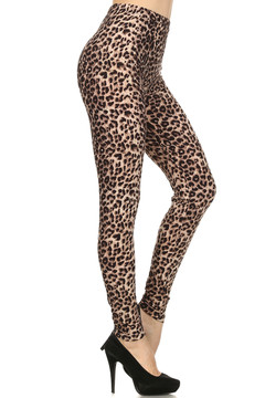 30ec5ed4230db8 Side Image of Soft Brushed Feral Cheetah Leggings