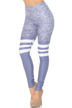 Creamy Soft Split Sport Light Heathered Leggings - USA fashion™
