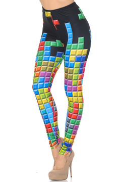 Creamy Soft Tetris Extra Small Leggings - USA Fashion™