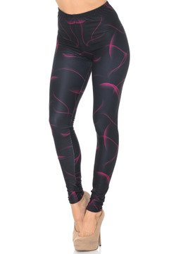 Creamy Soft Fuchsia Mist Leggings - USA Fashion™