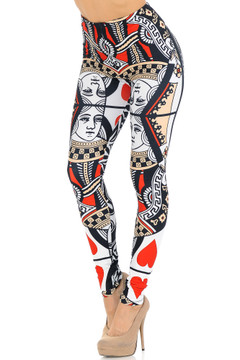 Creamy Soft Queen of Hearts Leggings - USA Fashion™