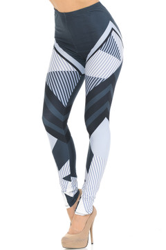Creamy Soft Contour Angles Leggings - USA Fashion™