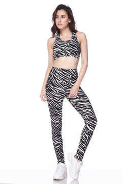 Buttery Soft Zebra Bra and Leggings Set