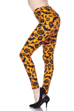 Buttery Soft Halloween Plus Size Leggings