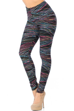 Brushed Rainbow Lines Leggings