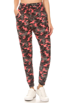 Buttery Coral Camouflage Joggers