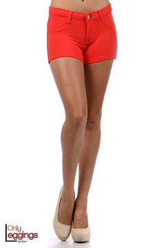 Coral Signature Cotton Shorts