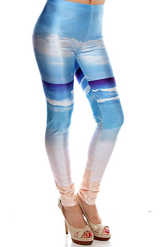 Cool Blue Seashore Leggings