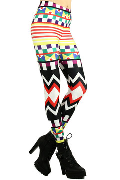 Kaleidoscopic Tribal Leggings