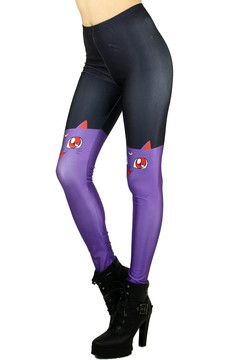 Purple Sailor Moon Cat Leggings - Plus Size