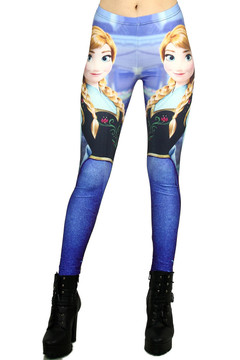 Princess Anna Leggings - Plus Size