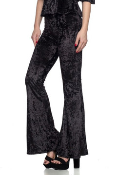Crushed Velvet Bell Bottom Leggings