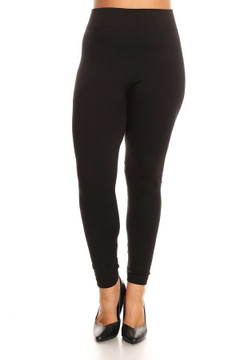 Fleece Lined Leggings - Plus Size