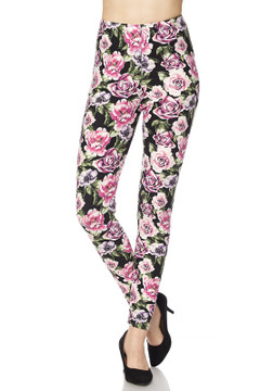 Rustic Pink Rose Leggings