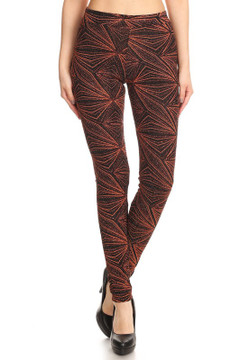 Glitter Lurex Geometric Leggings