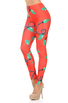 Holiday Christmas Lights Leggings