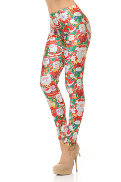 Many Faces of Santa Leggings