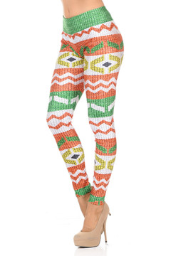 Festive Faux Sweater Leggings