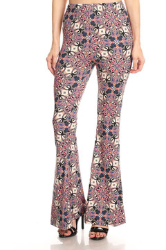 Decadent Rosy Bell Bottom Leggings