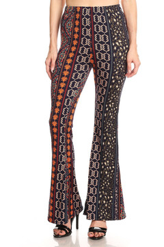 Vertical Adornment Bell Bottom Leggings