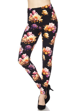 Floral Bunch Leggings - Plus Size