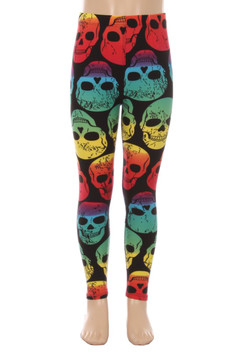 Rainbow Skull Kids Leggings