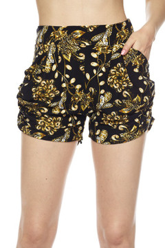 Golden Wreath Harem Shorts