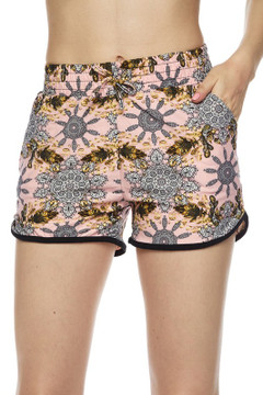 Gorgeous Pink Motif Dolphin Shorts
