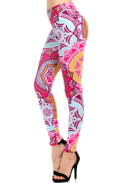 Pretty Pink Mandala Leggings