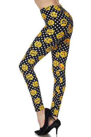 Brushed Retro Pixel Arcade Emoji Leggings