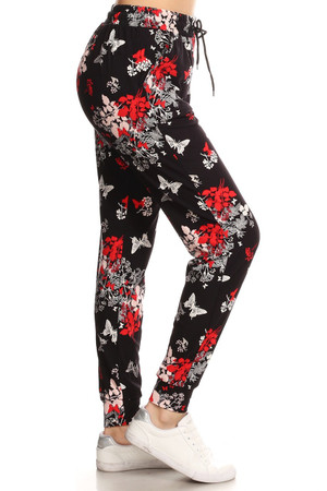 Brushed Butterfly Bloom Joggers