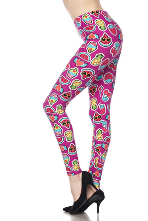 Brushed  Cartoon Fruit Leggings