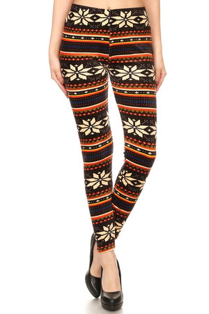 Buttery Soft Autumn Holiday Garden Plus Size Leggings